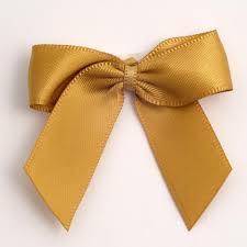 gold self adhesive satin ribbon satin bows favour this