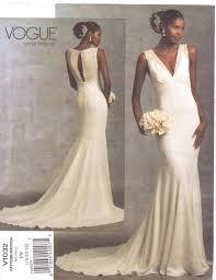 vogue wedding dress patterns vogue bridal original pattern v1032 womens wedding dress size 18