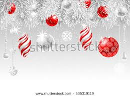 Frozen Christmas Decorations Christmas Greeting Card Frozen Spruce Branches Stock Vector