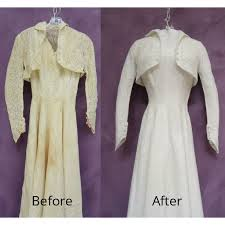 wedding dress restoration wedding gown restored with bolero