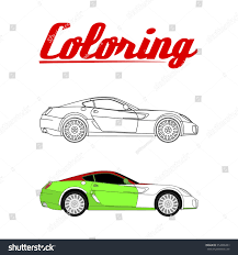cartoon sport car coloring book stock vector 352009403 shutterstock