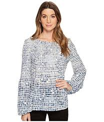 ivanka blouse ivanka georgette printed balloon sleeve blouse at zappos com