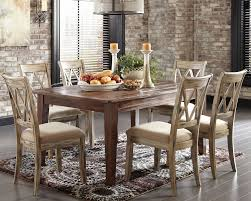 furniture elegant mestler rustic dining table and parson chairs
