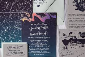 northern lights sun l a wedding under the northern lights ladyfingers letterpress