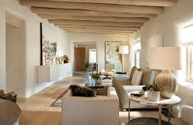 modern living room design beige wall paint color ivory leather