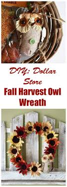 dollar store diy fall harvest owl wreath savvy saving