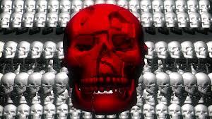 halloween video loop for window projection skull shake red vj loop full hd halloween horror visuals
