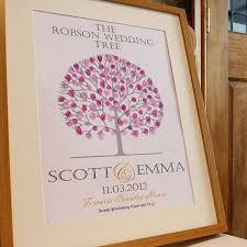 wedding tree fingerprint wedding tree