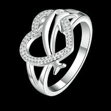 metal dolphin ring holder images 2018 dolphin heart ring classic dance heart shaped double female jpg