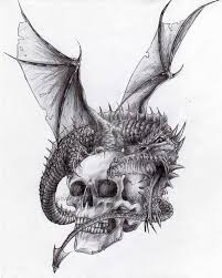 dragon and skull by hisimmortal1922 on deviantart