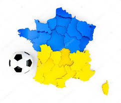 France On A Map by A Soccer Ball On A France Map With A Ukraine Ua Ukrainian Flag
