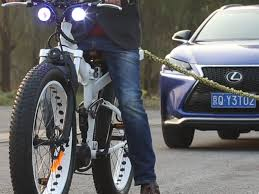 the moar electric bike is powerful enough to tow an suv business