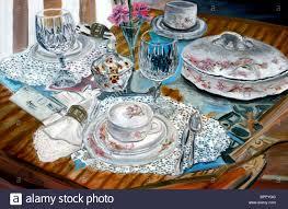 vintage china still painting antique vintage china set