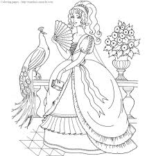 pretty princess coloring pages photo 16
