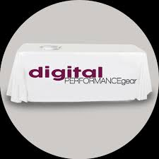 6ft Imprinted Table Cover Custom Printed Graphics Digital Performance Gear