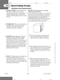 Mixture Word Problems Worksheet Algebra 1 Word Problems With Image Gallery Hcpr