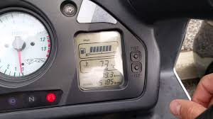 adjusting clock on 2001 honda vfr800 youtube