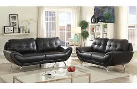 Black Leather Living Room Chair Leather Sofas Discount Furniture Store