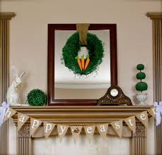 happy easter decorations ideas happy easter with lovely easter decor on the mantel