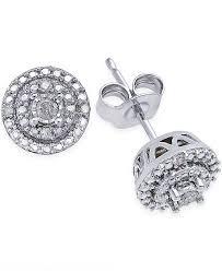 ear rings diamonds images Macy 39 s diamond stud earrings 1 10 ct t w in sterling silver tif
