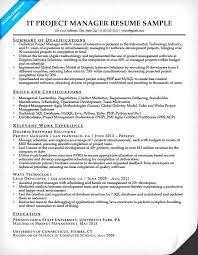 project management resume templates project manager resumes it project manager resume template