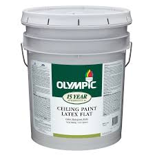 Washable Ceiling Paint by Shop Olympic White Flat Latex Interior Paint Actual Net Contents