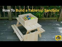 How To Build A Table Top How To Build A Tabletop Sandbox Youtube