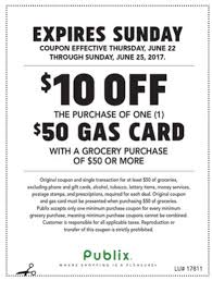 gas gift card deals publix gas gift card promotion 50 gift card for 40 with grocery