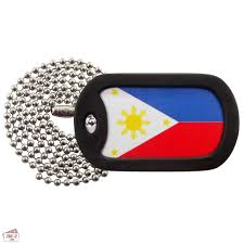 Philippines Flag Flag Flag Of The Philippines Dog Tag Necklace