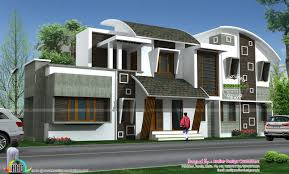 modern style home plans cute modern style curve roof home kerala home design bloglovin u0027