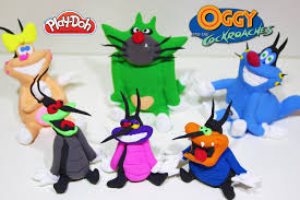 oggy cockroaches characters play doh