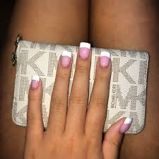 pink and white acrylic nails nails pinterest white acrylic