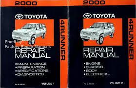 toyota 4runner repair 2000 toyota 4runner factory service manual set original shop