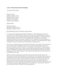 teacher recommendation letter format images letter samples format