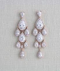 gold bridal earrings chandelier 21 gold bridal earrings the overwhelmed wedding