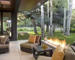 modern fire pit ideas exterior rustic home design with long porch