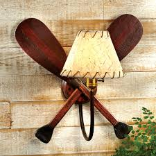 Wall Lamps Rustic Lamps Paddle Wall Lamp Black Forest Decor