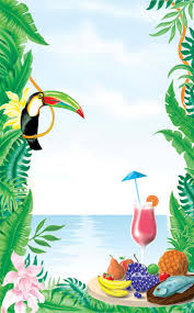 themed paper 8 1 2 x 14 menu paper tropical themed toucan design cover