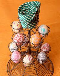 Decorating Easter Eggs by Silk Tie Easter Eggs U0026 Video Martha Stewart