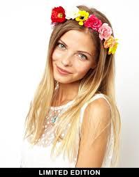 festival flower headbands lyst asos limited edition festival flower headband