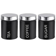 Stainless Steel Canister Sets Kitchen Aliexpress Com Buy 3pcs 1set Black Stainless Steel Food