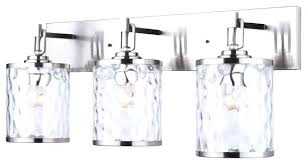 Transitional Vanity Lighting 3 Light Vanity Light 3 Light Vanity With Watermark Glass