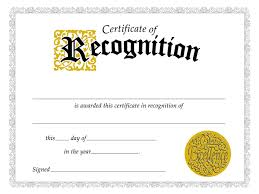certificate of recognition certificate template professional and
