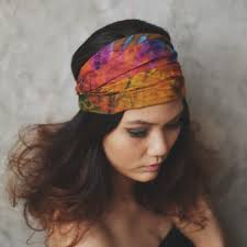 bandana hippie knit turban headband berry color from rumraisina rumraisin