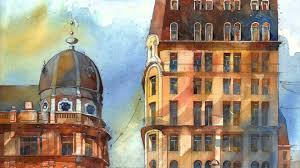 architectural watercolors of a dreamlike warsaw by tytus