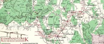 clark map lewis and clark in the rocky mountains 1990