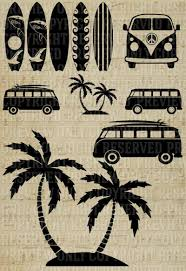 palm tree svg surf board svg palm tree svg volkswagon van svg surf van beach