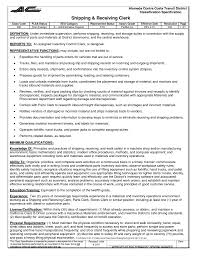 Resume Sample Grocery Clerk by Shipping Clerk Resume Haadyaooverbayresort Com