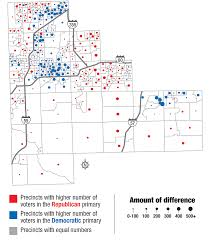 Illinois Map With Counties by See How Your Neighbors Voted In Presidential Primary