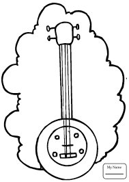 coloring pages for kids activities music musical instruments